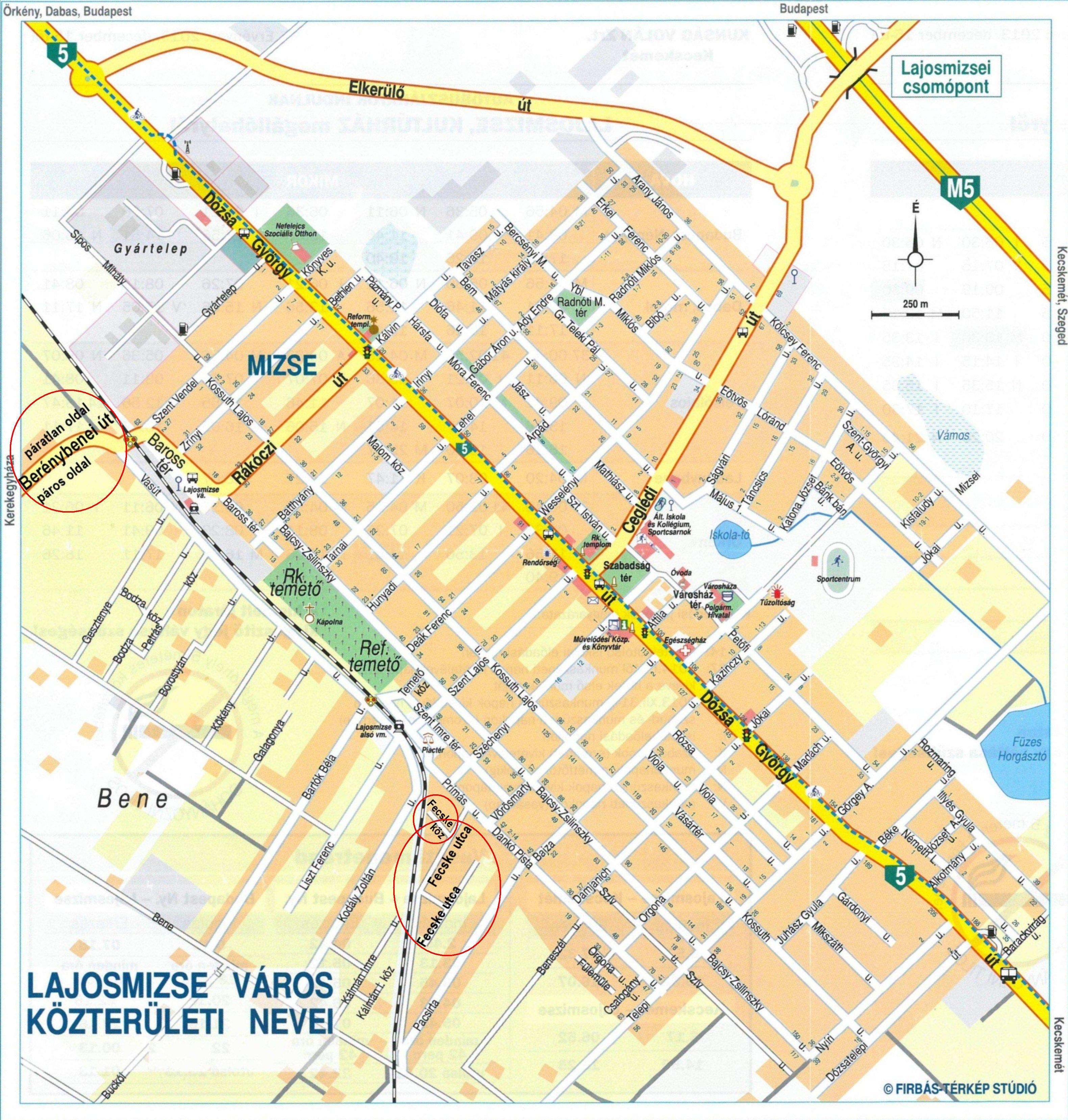 lajosmizse térkép Új lajosmizsei közterületnevek | JászLajosmizse.hu lajosmizse térkép